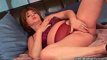 granny tan pantyhose old Multiple creampie no clean up
