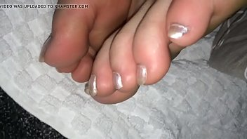 feet and boots Granny hand cum